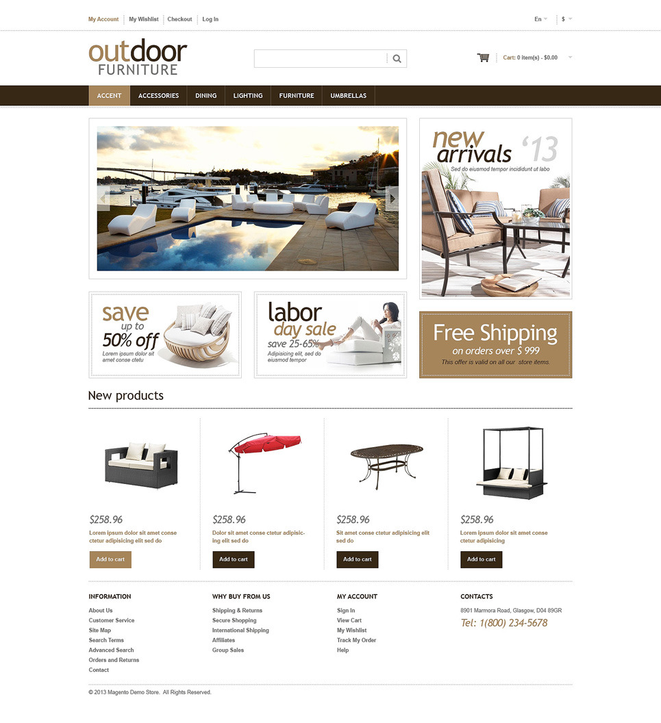 Furniture Responsive Magento Theme New Screenshots BIG