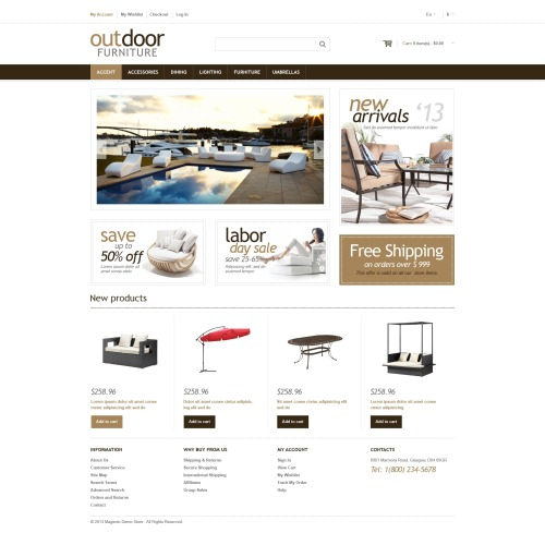 Outdoor Furniture - Magento Template based on Bootstrap