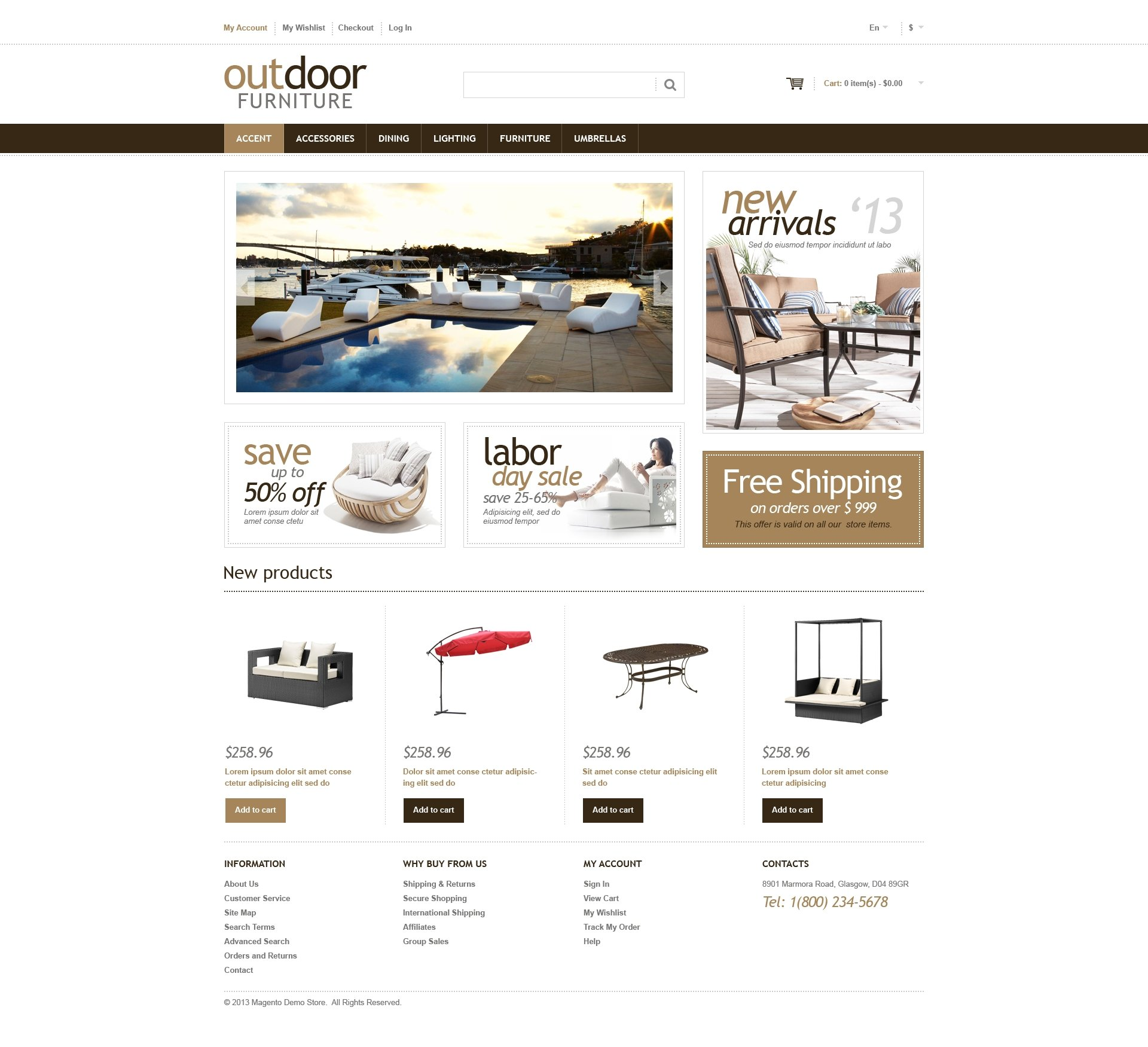 Garden Design Responsive Magento Theme - screenshot