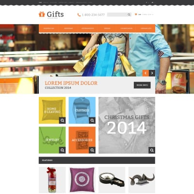 opencart bookstore template - gifts opencart templates