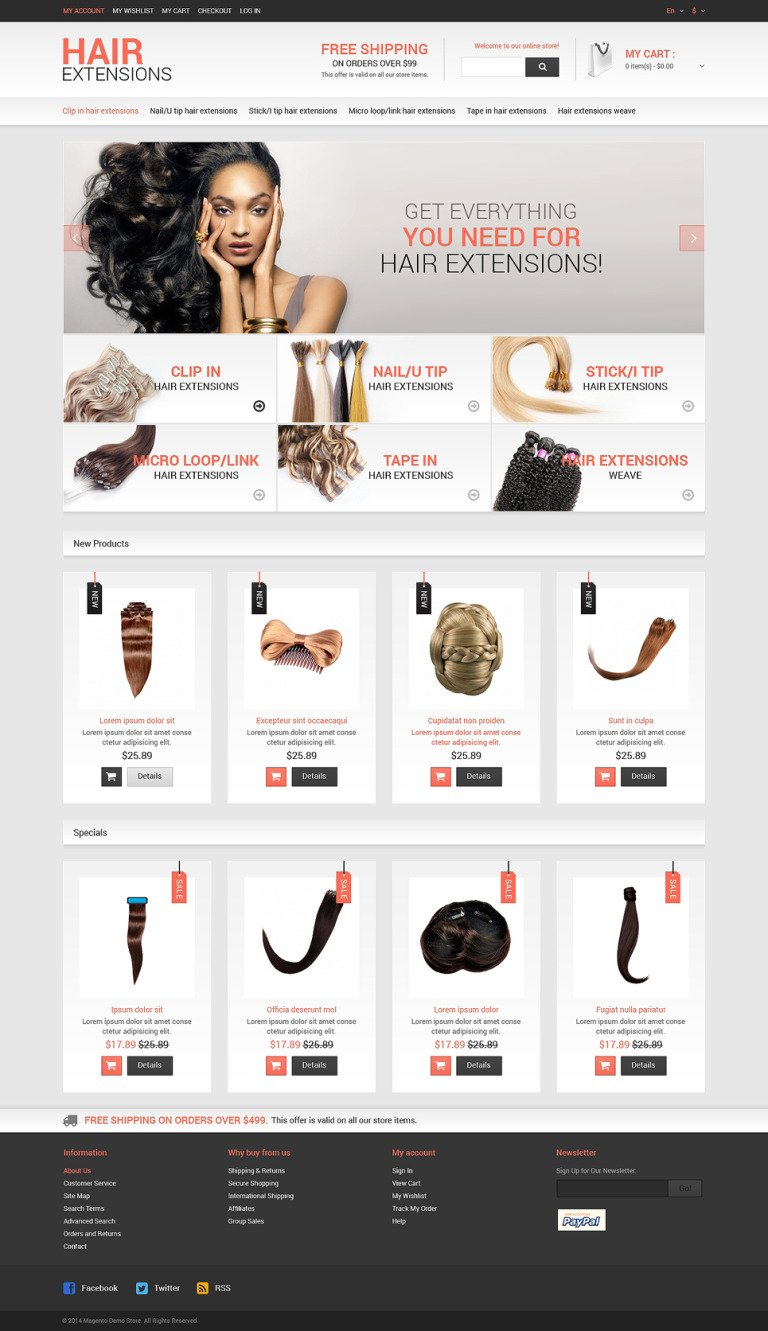 Hair Salon Responsive Magento Theme New Screenshots BIG