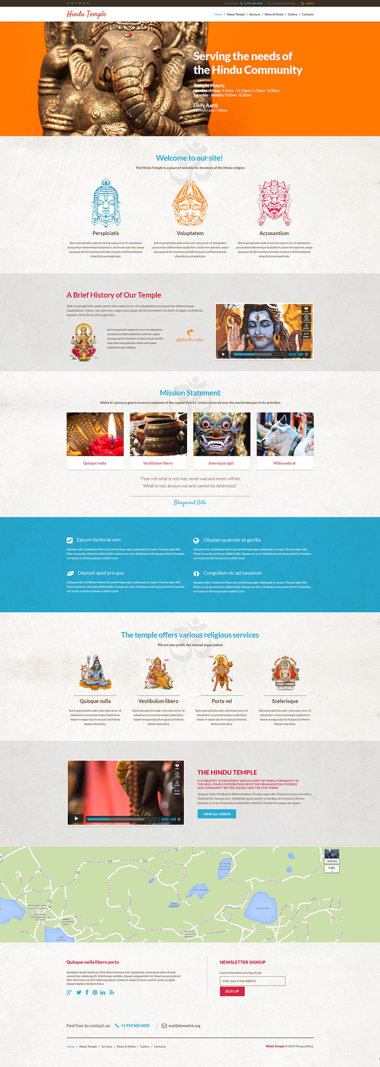Hinduism Responsive WordPress Theme New Screenshots BIG