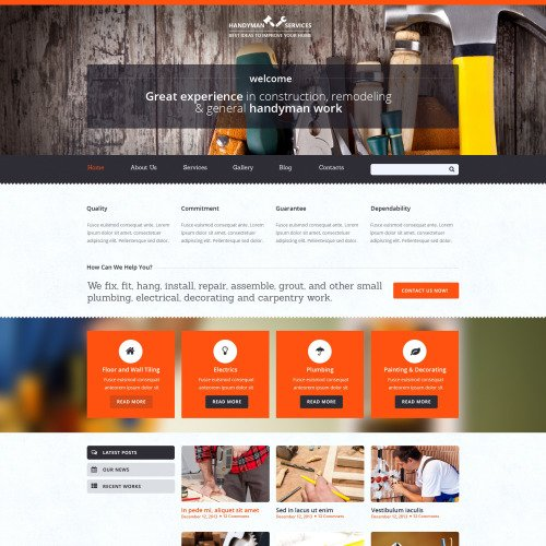Handyman Services - Joomla! Template based on Bootstrap