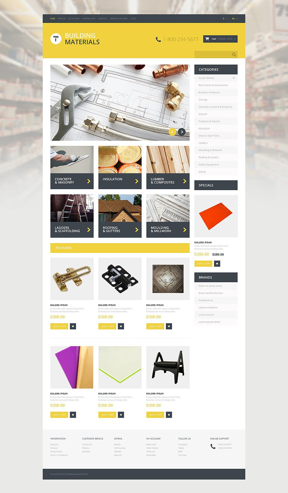 Home Repairs Responsive OpenCart Template New Screenshots BIG