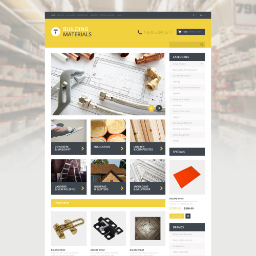 Building Materials - OpenCart Template based on Bootstrap