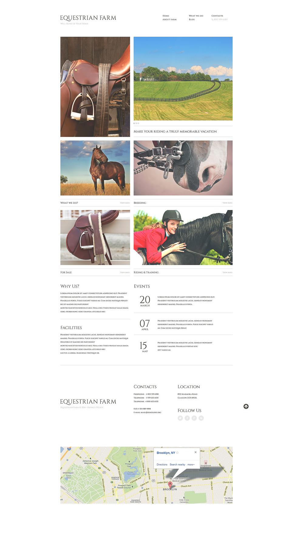 Horse Responsive Website Template New Screenshots BIG