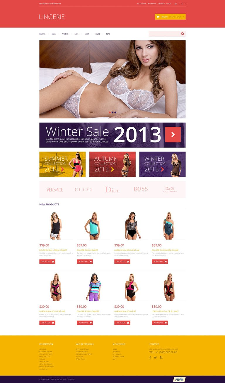 Lingerie Responsive Magento Theme New Screenshots BIG