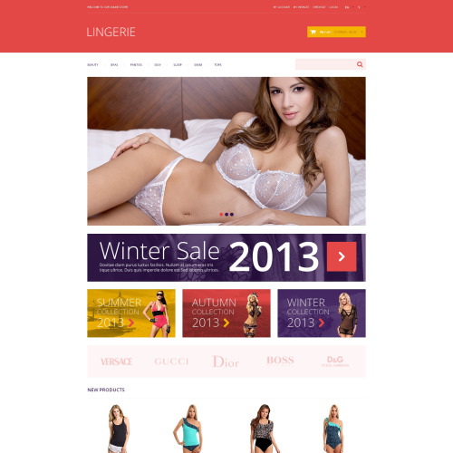 Lingerie - Magento Template based on Bootstrap