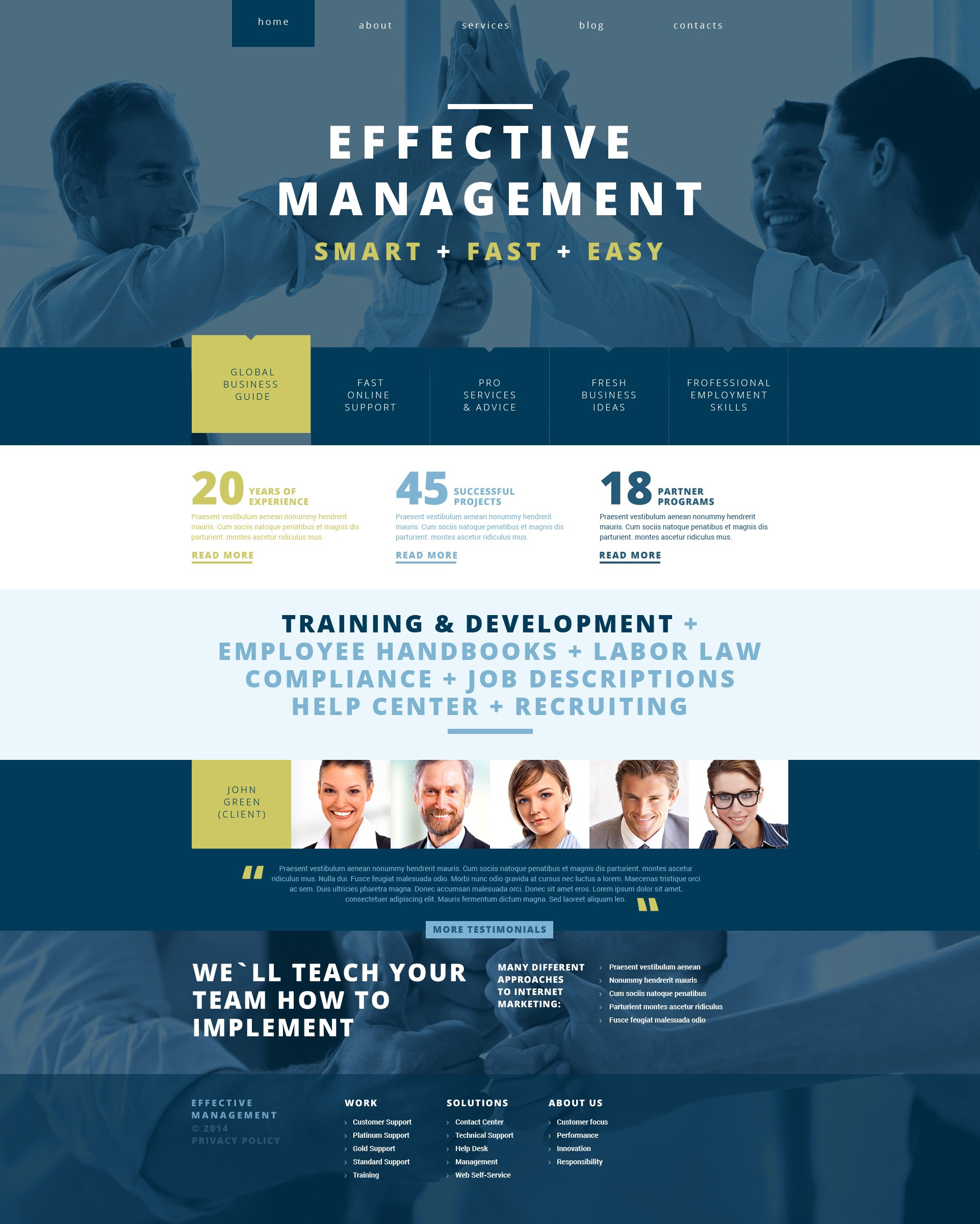 Management Company Responsive WordPress Theme - screenshot