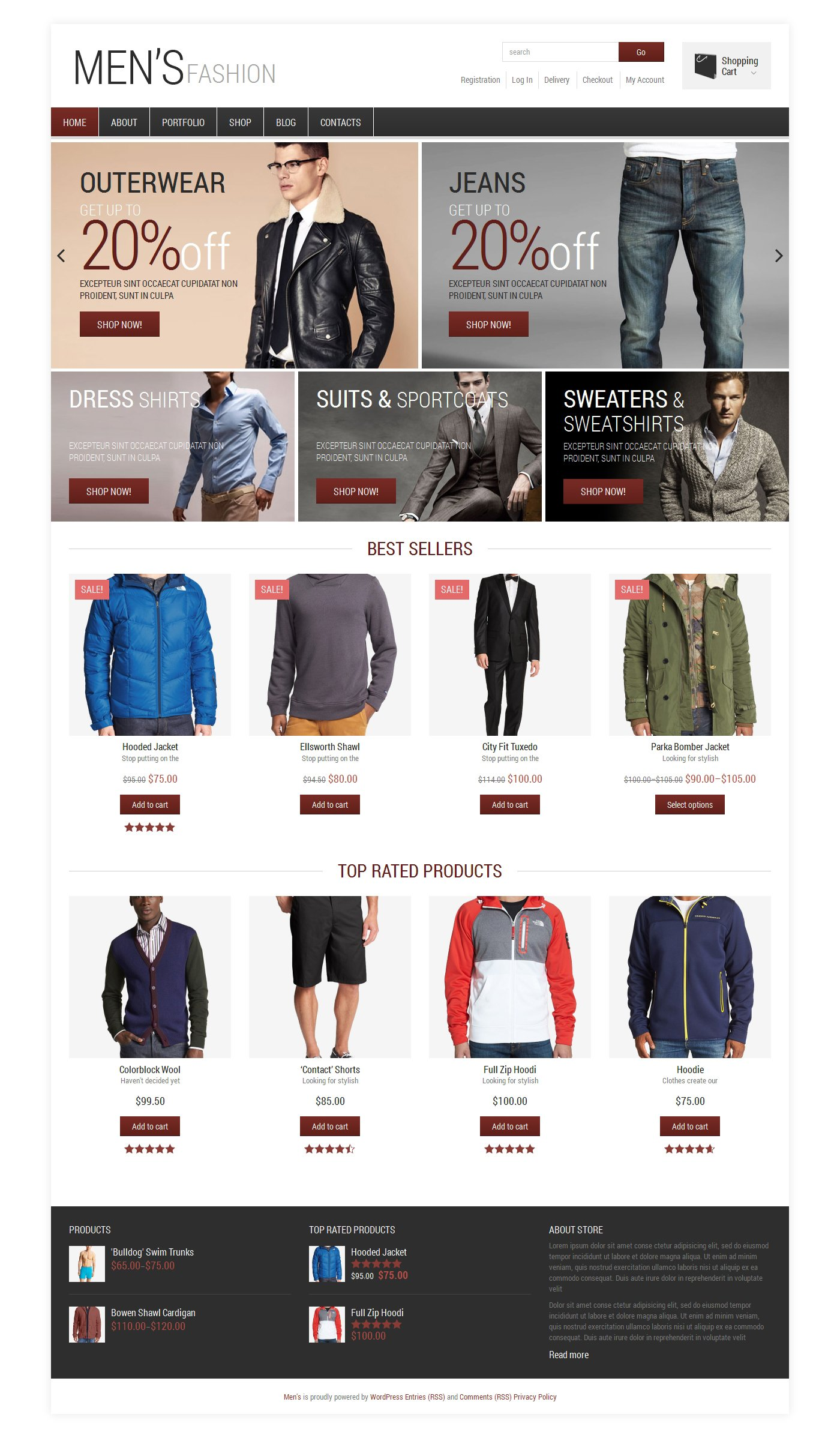 """Men's Fashion"" thème WooCommerce adaptatif #48571"