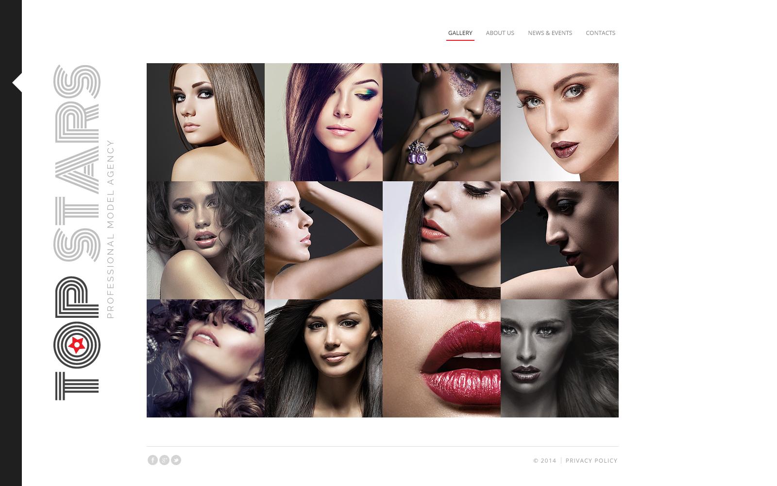 Model Agency Website Template - screenshot