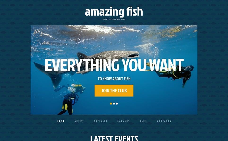 Modello WordPress Responsive #48593 per Un Sito di Pesci New Screenshots BIG