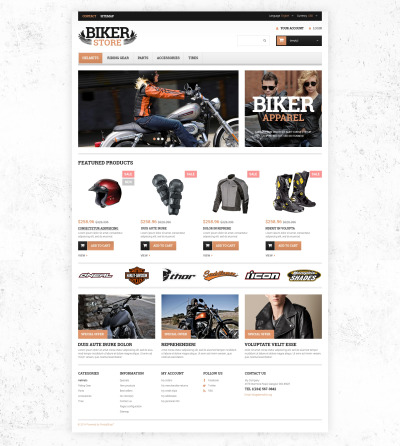 Motorcycle Stuff PrestaShop Theme