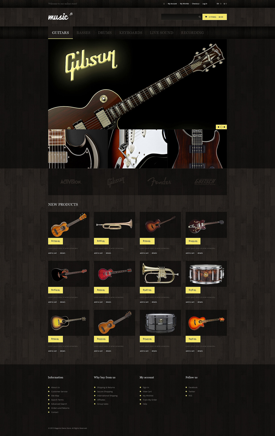 Music Store Magento Theme New Screenshots BIG