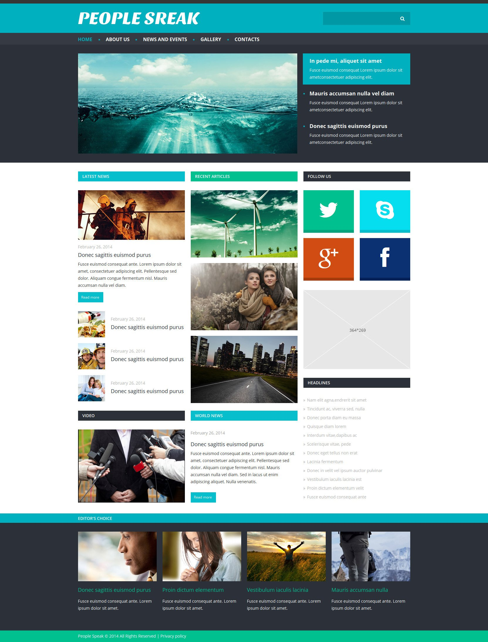 News Portal Responsive Joomla Template - screenshot