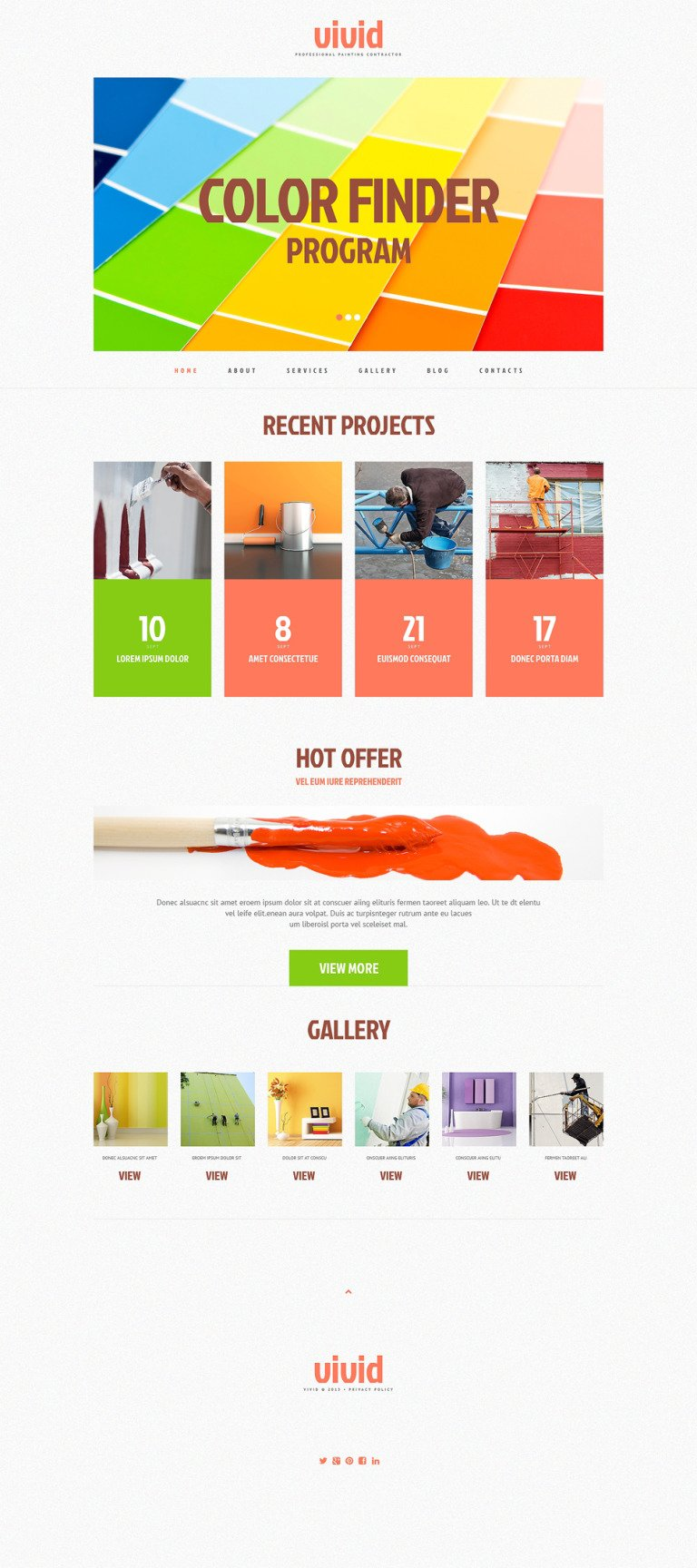 Painting Company Responsive WordPress Theme New Screenshots BIG