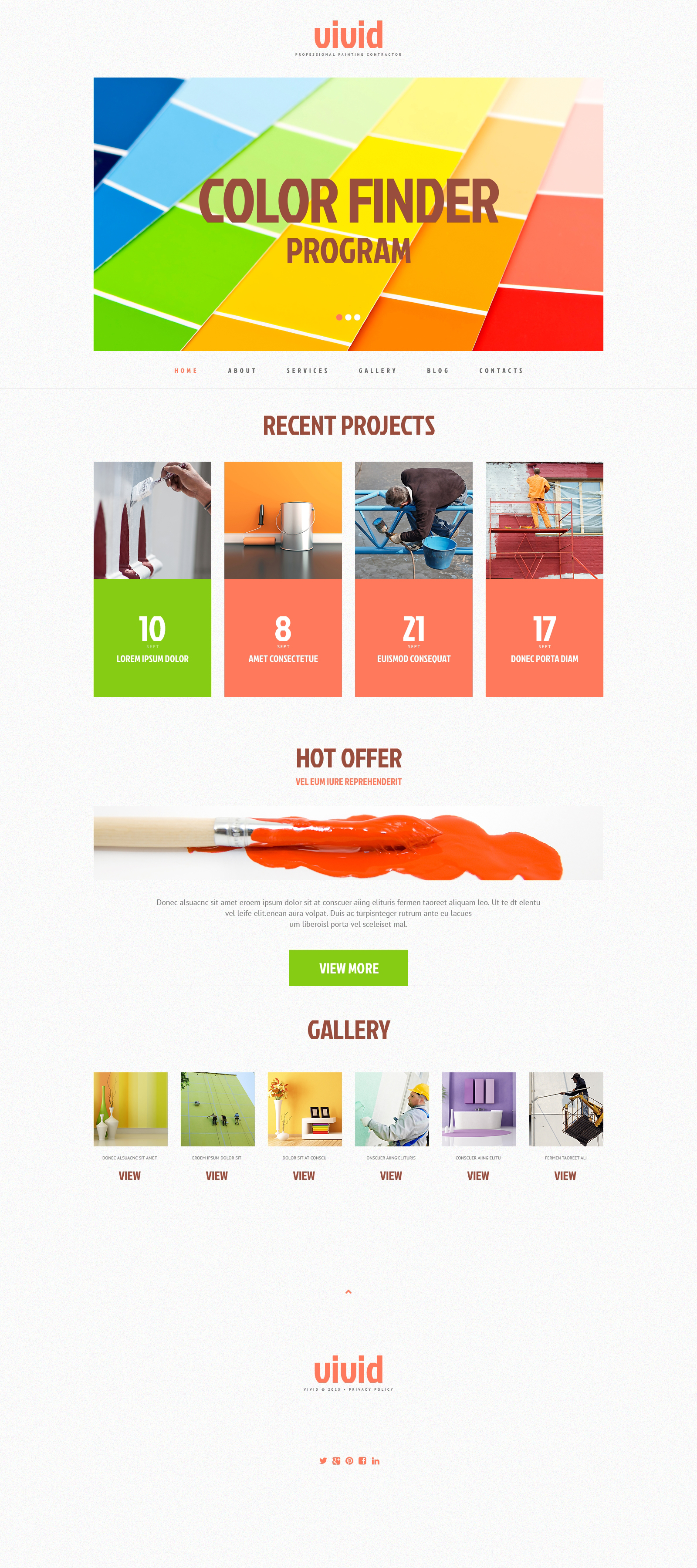 Painting Company Responsive WordPress Theme #48596