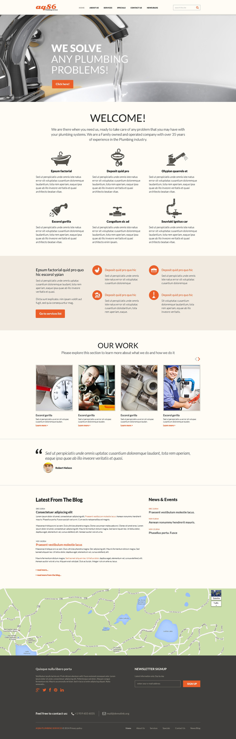 Plumbing Responsive Joomla Template New Screenshots BIG