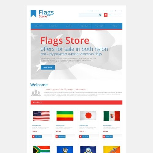 Flags Store - Responsive Magento Template