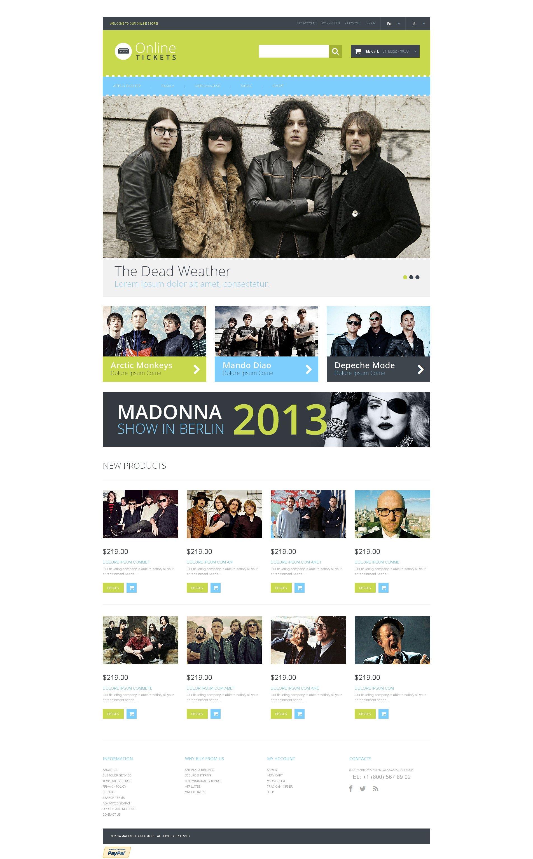 Responsive Magento Thema over Tickets website №48583