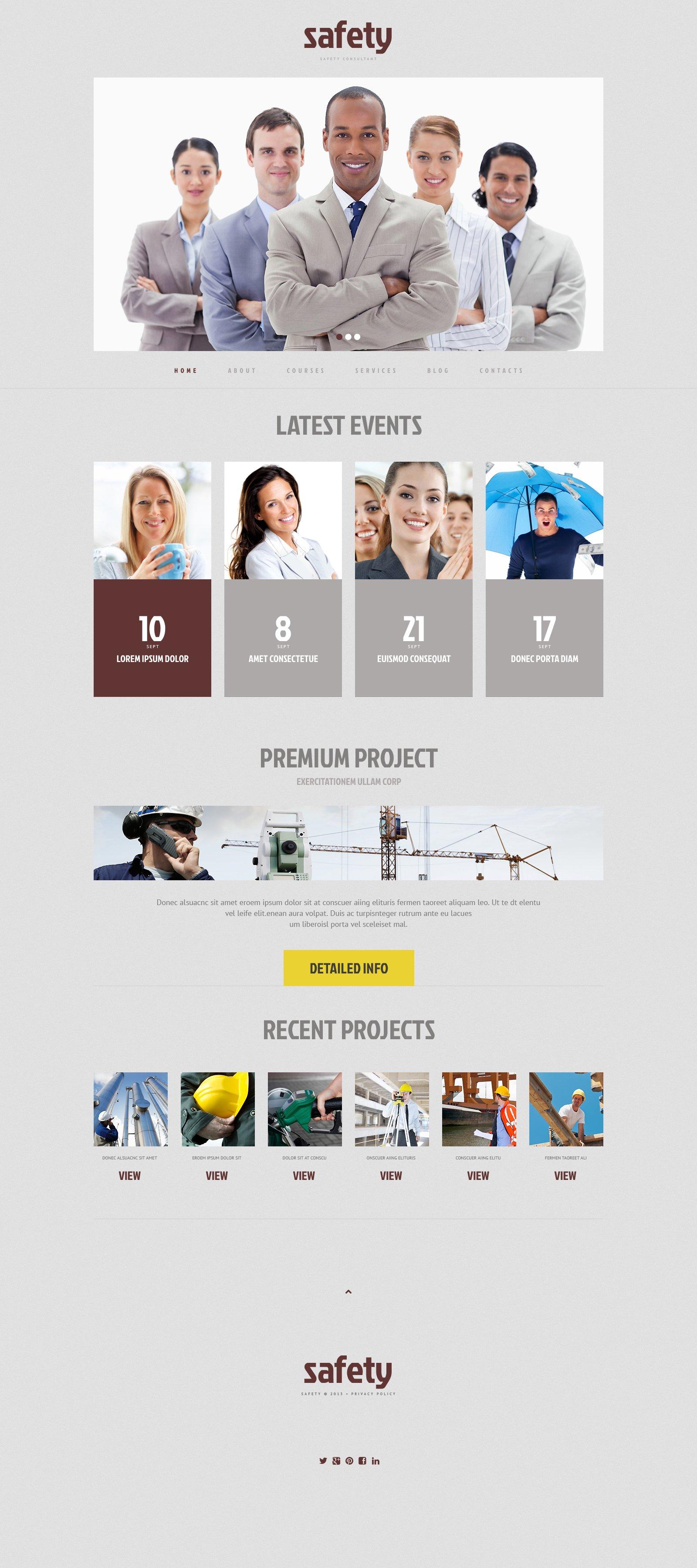 Responsive WordPress thema over Informatiebeveiliging №48595 - screenshot