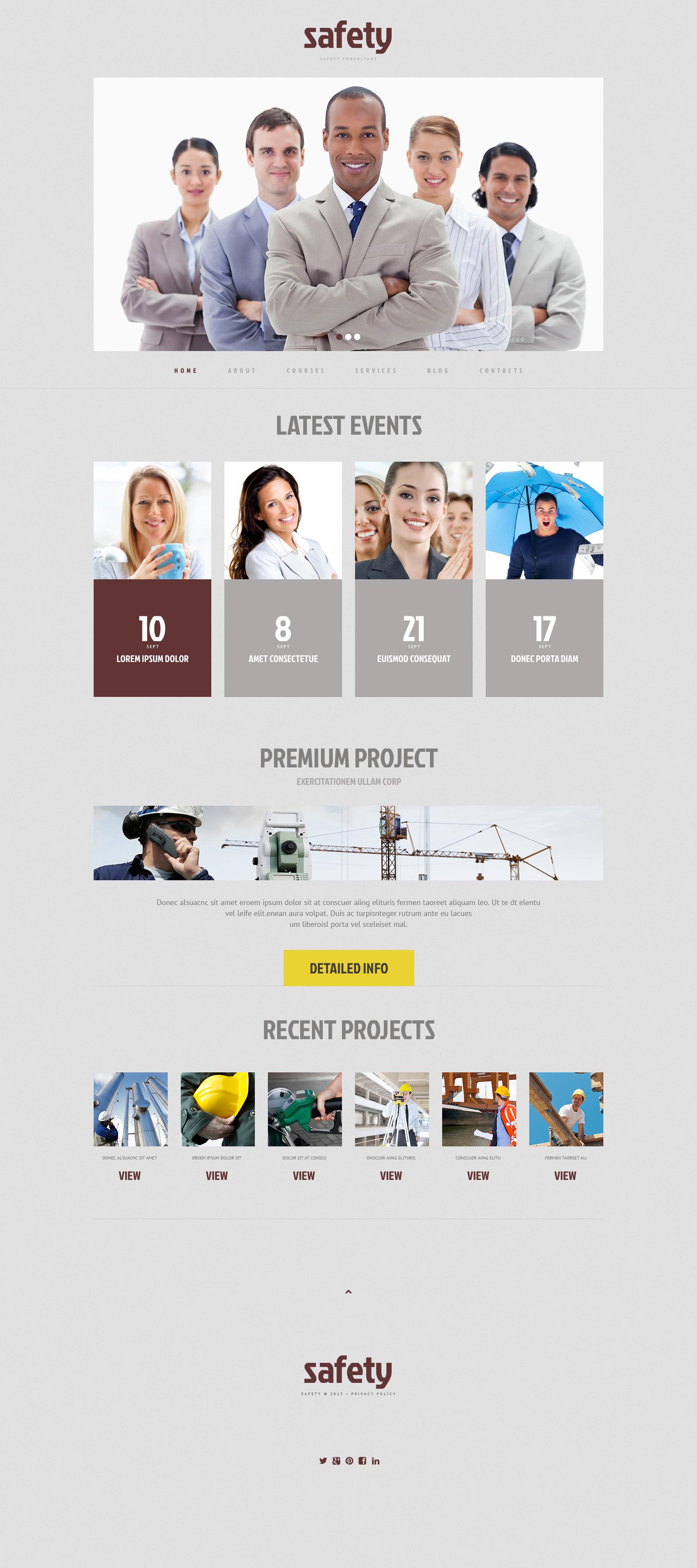 Responsives WordPress Theme für Informationssicherheit #48595 - Screenshot