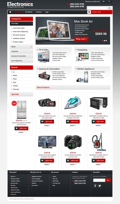 Responsywny szablon Magento #48579 na temat: sklep elektroniczny