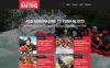 Reszponzív Vadvizi evezés témakörű  Weboldal sablon New Screenshots BIG