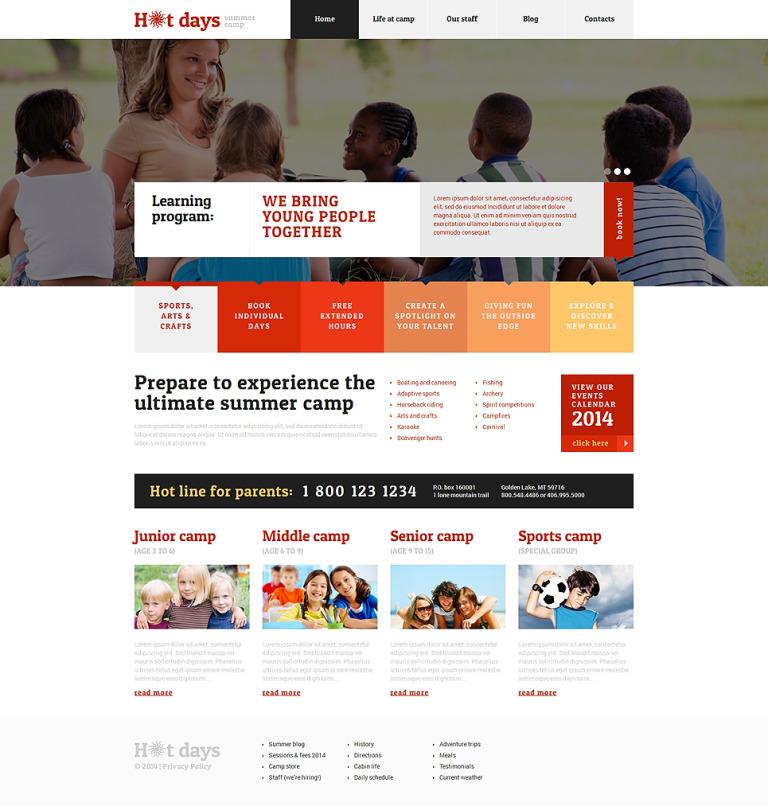 Summer Camp Responsive WordPress Theme WordPress Theme New Screenshots BIG