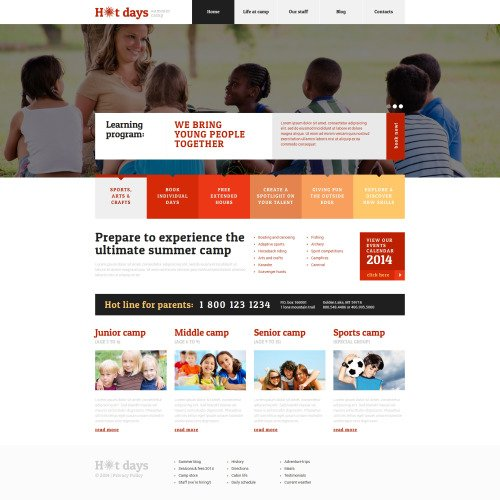 Hot Days - WordPress Template based on Bootstrap