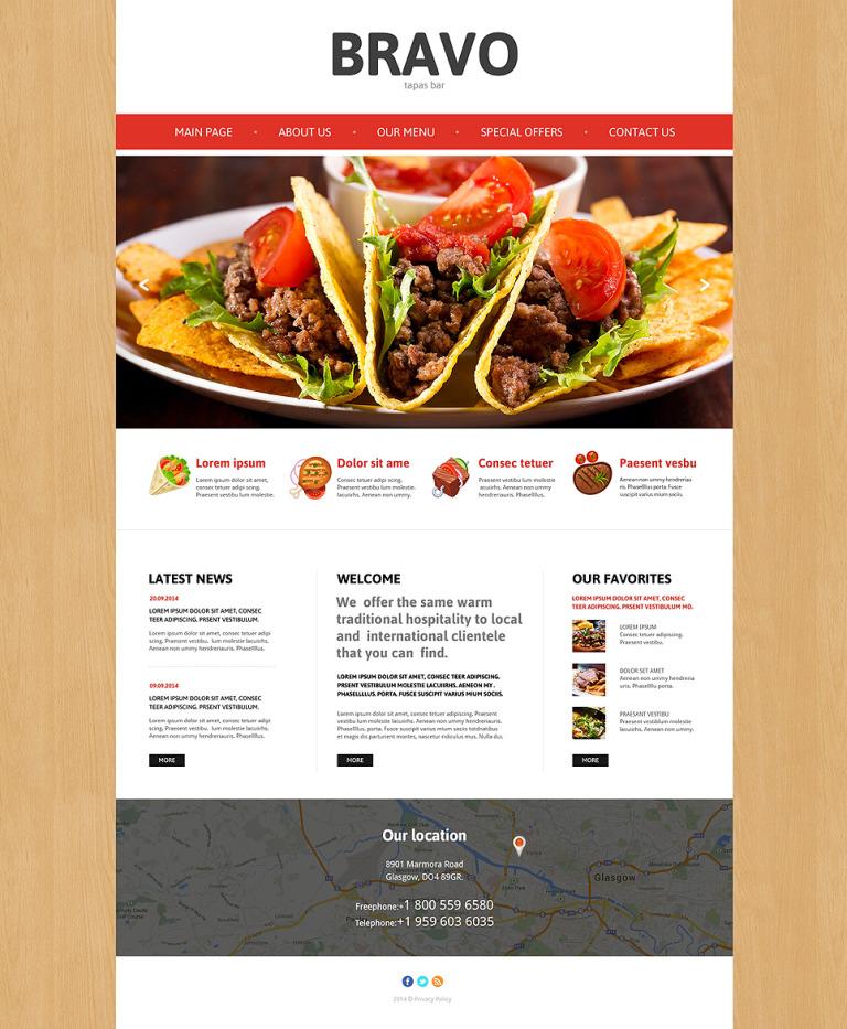 Tapas Restaurant Responsive Website Template New Screenshots BIG
