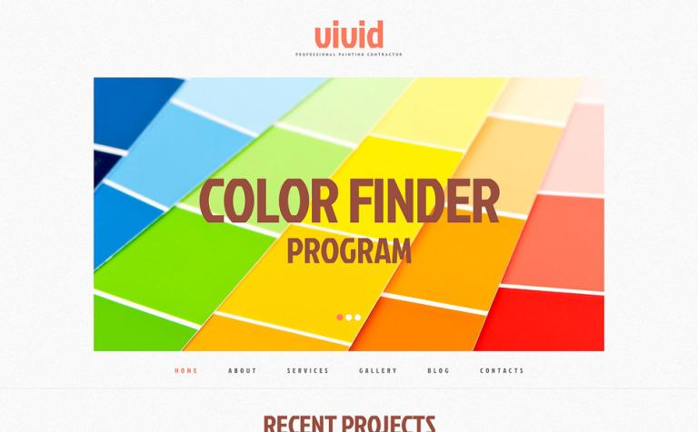 Tema de WordPress #48596 para Sitio de Empresas de pintura