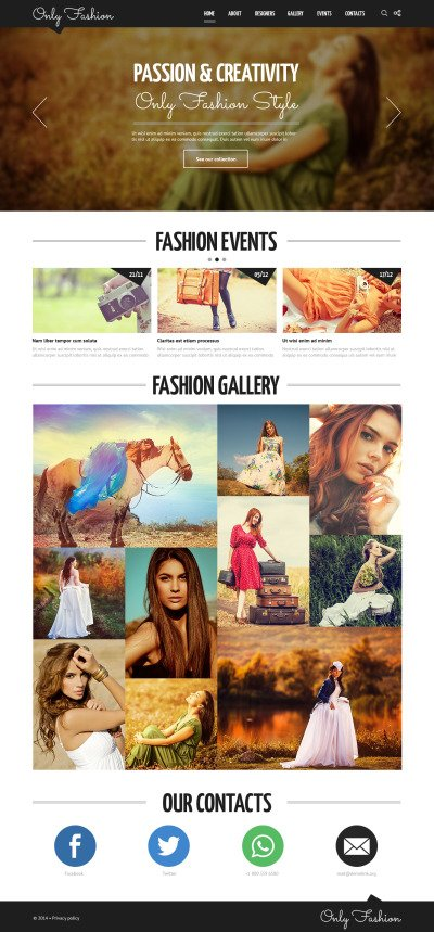 Fashion Blog Responsive Tema Joomla
