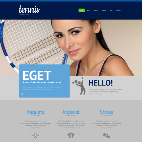 Tennis - Sports Template based on Bootstrap