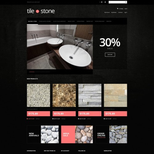 Tile  Stone Store - Magento Template based on Bootstrap