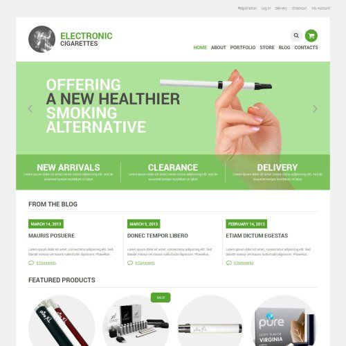 Electronic Cigarettes - WooCommerce Template based on Bootstrap