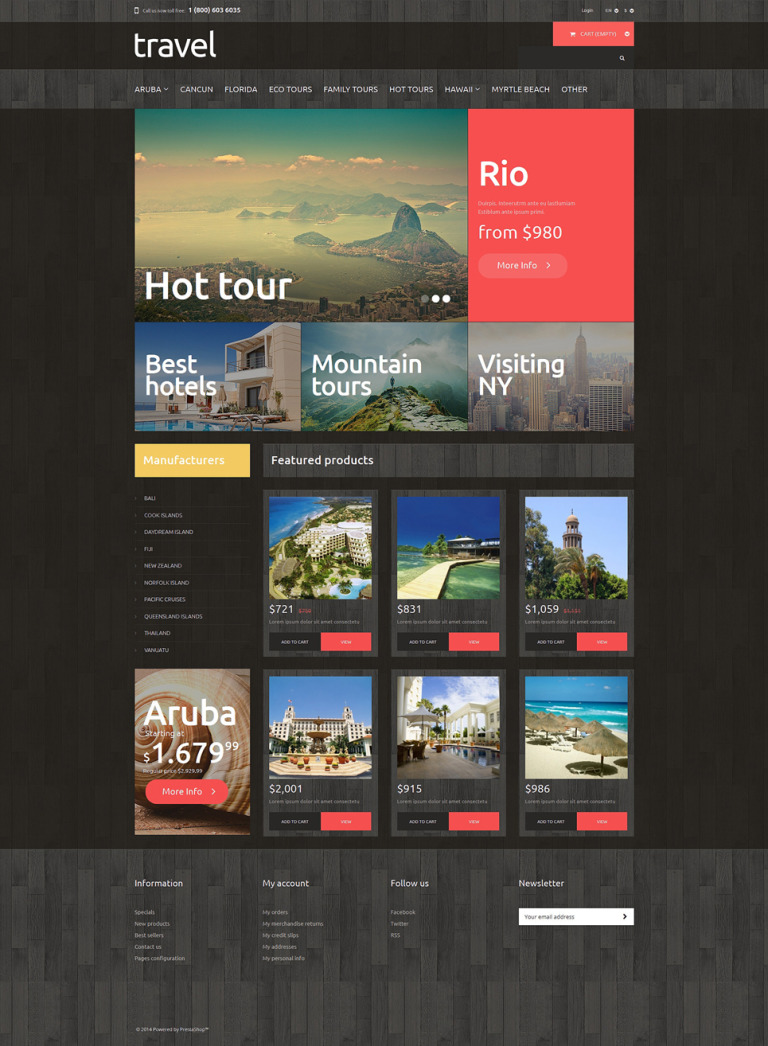 Traveling PrestaShop Theme New Screenshots BIG