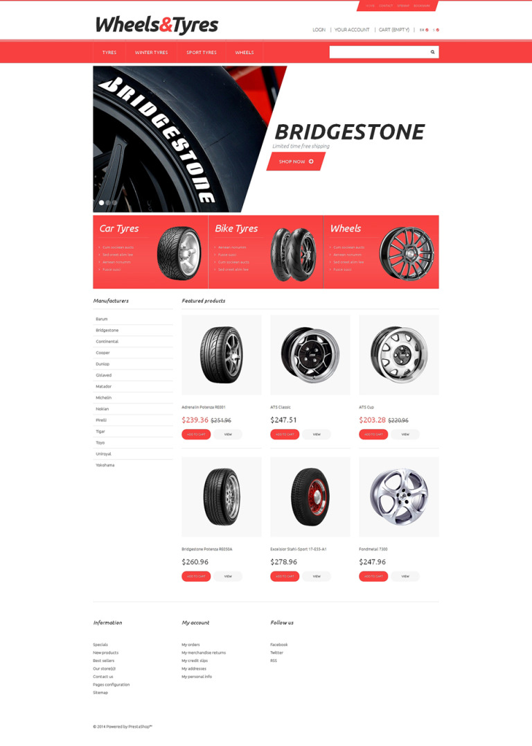 Wheels and Tyres PrestaShop Theme New Screenshots BIG