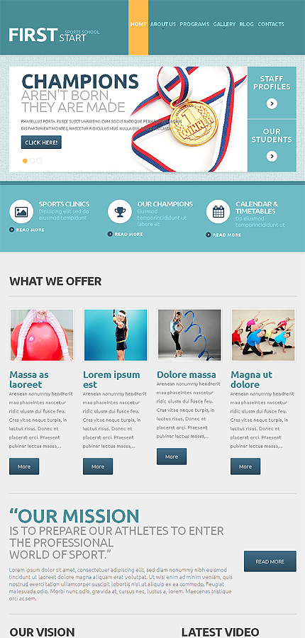WordPress Theme/Template 48601 Main Page Screenshot