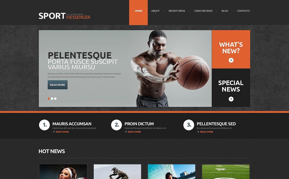 Responzivní WordPress motiv na téma Sportovní noviny New Screenshots BIG
