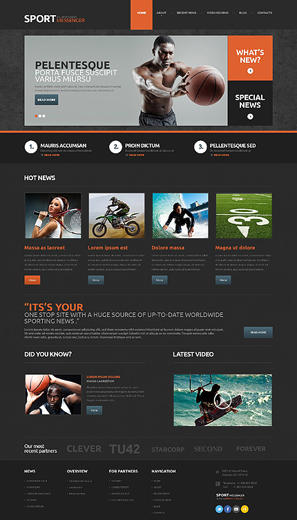 WordPress Theme/Template 48602 Main Page Screenshot