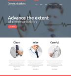 Communications WordPress Template 48606