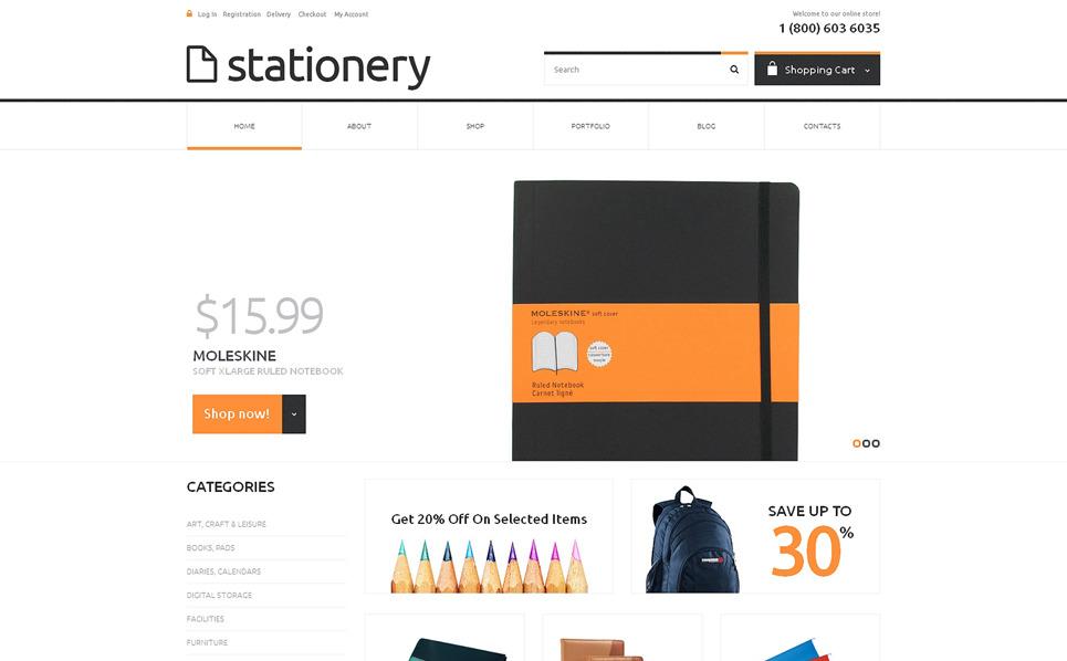 Responzivní WooCommerce motiv na téma Papírnictví New Screenshots BIG