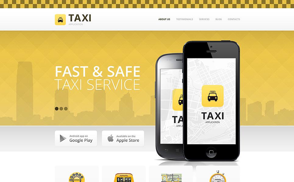 Drupal šablona Taxislužby New Screenshots BIG