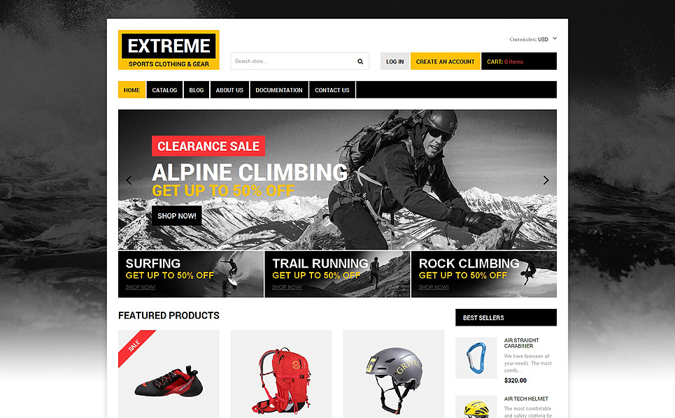 Responsive Shopify Thema over Extreme Sporten  New Screenshots BIG