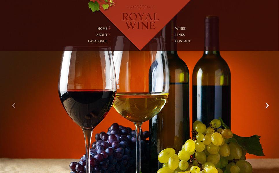 Bootstrap szablon strony www #48624 na temat: wino New Screenshots BIG