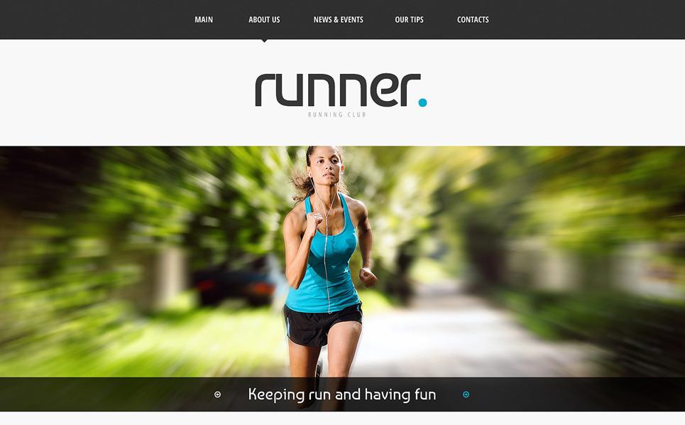 Responsywny szablon strony www #48625 na temat: bieganie New Screenshots BIG
