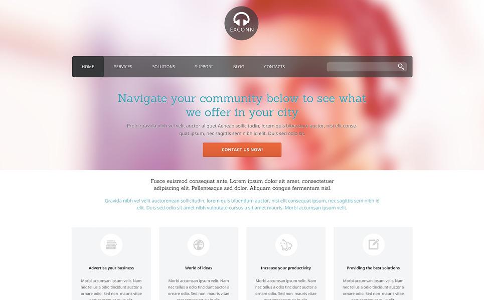 Template WordPress Responsive #48634 per Un Sito di Comunicazioni New Screenshots BIG