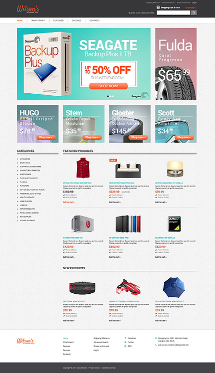osCommerce Template 48637 Main Page Screenshot