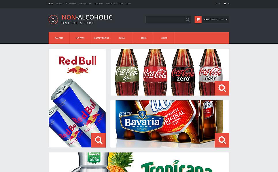 Адаптивний OpenCart шаблон на тему їжа та напої New Screenshots BIG